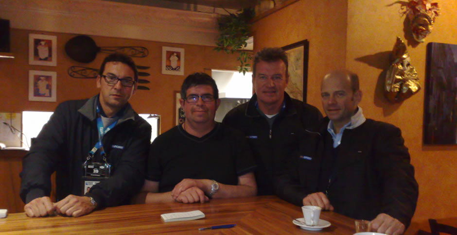 John Kirwin, Italian Rugby Executives & Chef Marco from Caffé Centrale