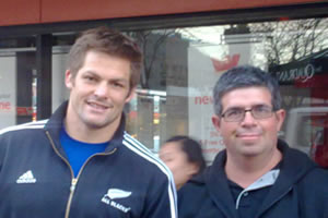 Richie McCaw & Chef Marco from Caffé Centrale